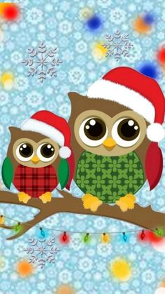 Free Christmas Owls Wallpaper For Your Phone Christmas Rock, Christmas Owls, Christmas Crafts, Winter Christmas, Christmas Graphics, Christmas Clipart, Cool And Funny Wallpapers, Owl Classroom, Paper Owls