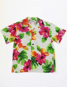 0ce345ecea09 Super fun Boy's Hawaiian Shirt with a Water Hibiscus print! : Shaka Time  Hawaii Clothing