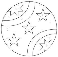 Coloring Ball - a preschool activity page