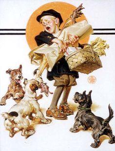 Joseph Christian Leyendecker (1874 – 1951, American) I swear this is me walking in the door after work