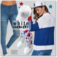 A fashion look from October 2016 by svijetlana featuring polyvoreeditorial, whitesneakers i twinkledeals