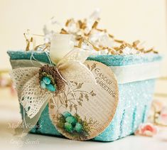 Beautiful Victorian Easter Basket