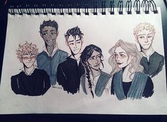 "itsiparwing: ""When you've missed 6 days of inktober so you try to make up for it by sketching 6 crow kids "" I guess this is what happened. The Crow, Geeks, Funeral, Crooked Kingdom, The Grisha Trilogy, Leigh Bardugo, Six Of Crows, My Ghost, Fanart"