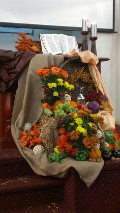 Church Thanks Giving Decoration  First Russian SDA Church - Thanksgiving 2012
