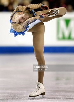 Carolina Kostner from Italy during the Ladies Short program 24 March 2006 at the ISU World Figure Skating Championships being held at the Saddledome in Calgary, Canada. AFP PHOTO/Timothy A. CLARY