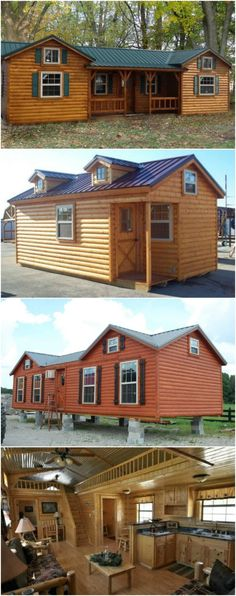 Amish built portable garage shed cabin barn tiny house no for Cost to build a house in indiana