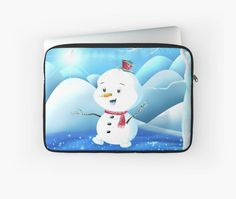 'Snowbaby on Sparkling Ice' Laptop Sleeve by We ~ Ivy Macbook Laptop, Presents For Friends, My Themes, Website Themes, Good Cause, Sparkling Ice, Ipod Touch, Ipad Case, Tech Accessories