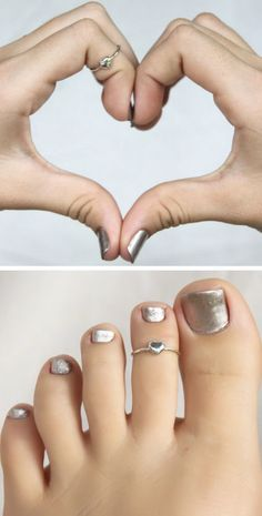 Dainty Heart Ring + Chrome Polish ♥ SuPer cUte! L.O.V.E.