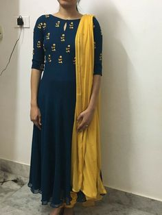 Colors & Crafts Boutique™ offers unique apparel and jewelry to women who value versatility, style and comfort. We specialize in customized attires crafted in h Kurti Neck Designs, Salwar Designs, Blouse Designs, Dress Designs, Indian Dresses, Indian Outfits, Chudidhar Designs, Salwar Pattern, Anarkali Dress