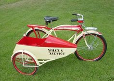 Classic bicycle with sidecar
