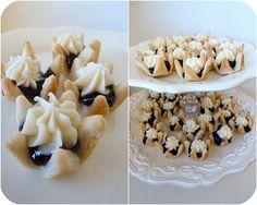 Mini Blackberry Tarts - i did cream cheese filling on the bottom, and fresh blackberries on top! Soooooo yummy and cute!