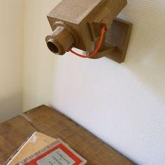 Cardboard surveillance camera replica
