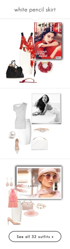 """white pencil skirt"" by sensual-spirit on Polyvore featuring Jonathan Simkhai, Lenny, Dolce&Gabbana, Pembe Club, Givenchy, Rick Owens, Anita Ko, Gianvito Rossi, Jason Wu and Ralph Lauren"