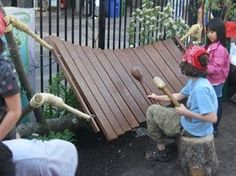 lots of diy outdoor musical kinstruments pics