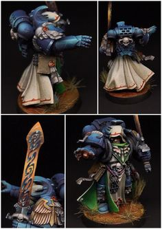 The Internet's largest gallery of painted miniatures, with a large repository of how-to articles on miniature painting Warhammer Dark Angels, Dark Angels 40k, Warhammer 40k Figures, Warhammer 40k Miniatures, Warhammer 40000, Warhammer Models, Fantasy Figures, Fantasy Art, Space Marine Librarian