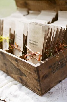 use crate for wedding ceremony programs.
