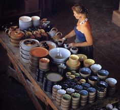 Edith Heath -  She pursued her ceramic interests on her own converting a treadle sewing machine into a pottery wheel.