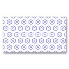 geometric business card.