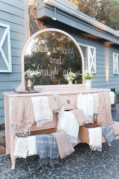 sweet spot for grabbing a shawl and cuddling! | Andi Mans #wedding