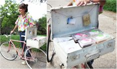 Tiffany makes delectable sandwiches and mini cakes, packages them neatly, fills up the vintage suitcase strapped to her pink bike and pedals to deliver. Best business model ever.