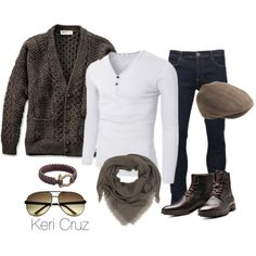 Winter Men's Fashion by keri-cruz on Polyvore featuring moda, Christian Dior, Brave Soul, Jack & Jones, J.Crew and Gucci
