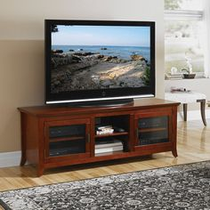 """Tech Craft PAL62 - Veneto 62"""" Wide TV Stand Credenza (Walnut)   The Simple Stores"""