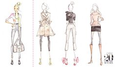cute fashion sketches from dallas shaw