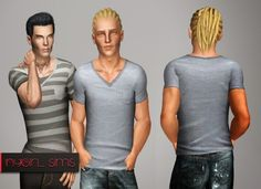 V-Neck Pocket Shirt by NYGirl - Sims 3 Downloads CC Caboodle