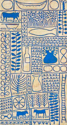 Blue Boab Acrylic on linen. by Marina Strocchi. Australia