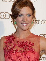 Brittany Snow. Love her dress, hair, and makeup.