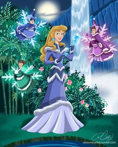 Artist Robby Cook creatively merged Disney princesses with characters from Avatar: The Last Airbender. Here's Princess Aurora of the Northern Water Tribe. Illustration by Robby Cook Disney Animation, Disney Pixar, Kida Disney, Avatar Disney, Art Disney, Disney Princess Art, Disney And Dreamworks, Disney Love, Disney Magic