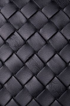 Black woven leather