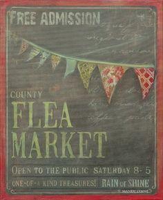 Charming flea market sign. I want to go!