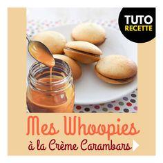 RentréeDiscount - Le Blog : RECETTE : Mes Whoopies à la crème de Carambars - le goûter facile Macaron, Cantaloupe, Almond, Arc, Ciel, Food, Skewers, Creative Food, Greedy People