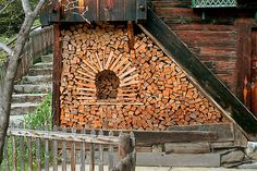 Creative Wood Pile Art