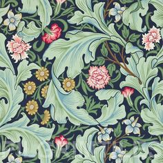 Lovely Arts And Crafts / Art Nouveau Style Printed Decorative Tile William Morris -taken from an original wallpaper design William Morris Wallpaper, William Morris Tapet, William Morris Patterns, Morris Wallpapers, Wallpaper Wallpapers, Arts And Crafts For Teens, Art And Craft Videos, Easy Arts And Crafts, Arts And Crafts Projects