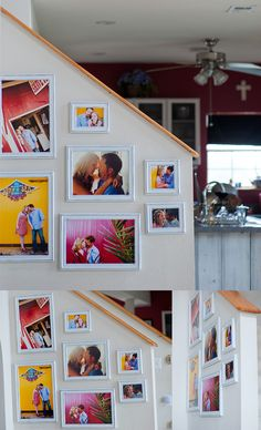 funky framing ideas... Colorful backgrounds and contemporary high fashion posing would make an impressive display!