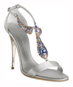 Giuseppe Zanotti: why not make your something blue something sparkly with these dazzling silver sandals