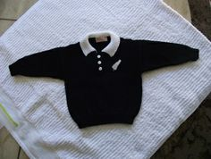Made an All Blacks jersey like this to match booties and beanie for grandson.