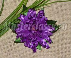 МК - Цветы из атласных лент. Пион с пошаговыми фото