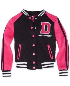 Dollhouse Girls' or Little Girls' Quilted Varsity Jacket - Kids Girls 2-6X - Macy's
