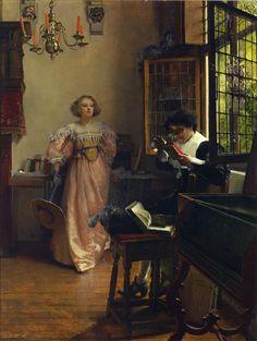 The Persistent Reader by Lady Laura Teresa Alma-Tadema