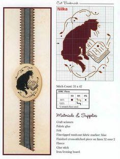 chat - cat - point de croix - cross stitch - Blog : http://broderiemimie44.canalblog.com/