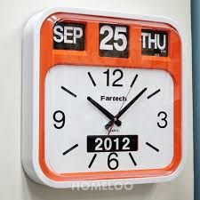 Image result for big wall clocks that have day and time
