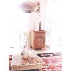Rustic bohemien style interior. Home