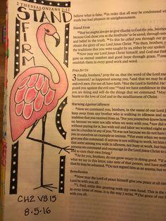 2 Thessalonians 2:15 Sherrie Bronniman - Art Journaling: In My Bible
