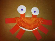 Ocean Unit ideas - writing piece in construction paper crab
