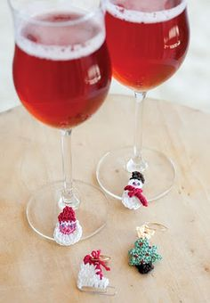 Crocheted cup markers       ♪ ♪ ... #inspiration_crochet #diy GB