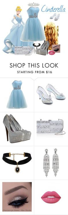 """""""Cinderella"""" by evii-chase ❤ liked on Polyvore featuring Milly, Kenneth Jay Lane, Lime Crime and Kate Marie"""