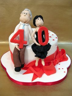 Ruby wedding anniversary cake by sweet_sweet_way, via Flickr